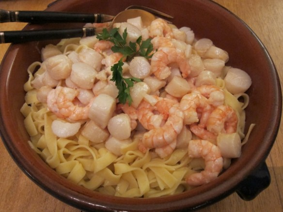 Scallops & Shrimps in Ginger