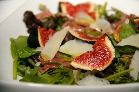 Salad with Roasted Figs & Sesame Seeds