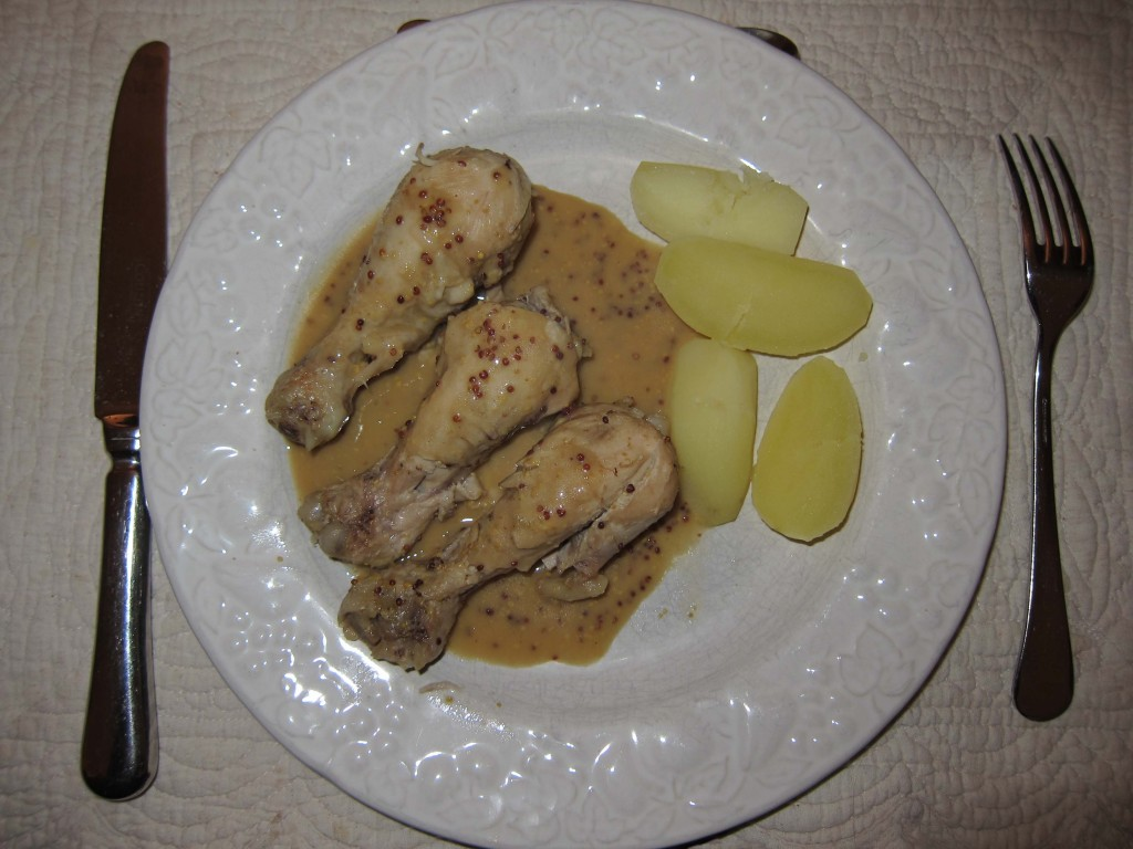 Chicken Drumsticks with Old Style Mustard