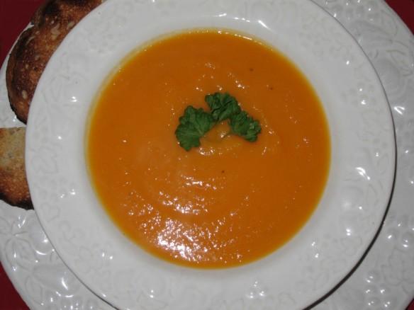 Vitaminized Carrot, Squash and Orange Soup