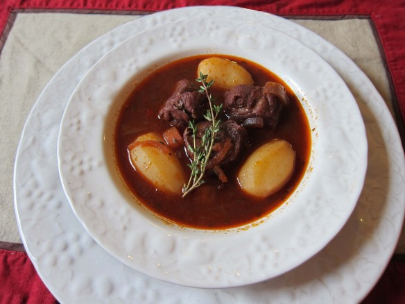 Lamb Casserole and Small Potatoes