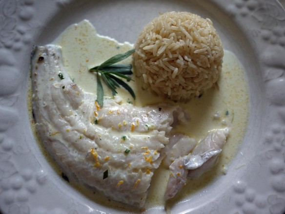 Hake with Tarragon and Orange