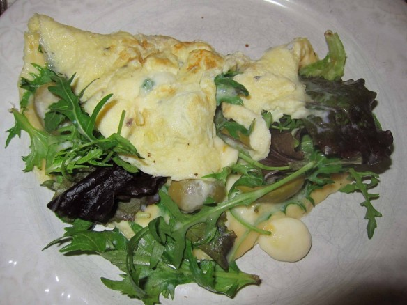 omelette folle & roquette