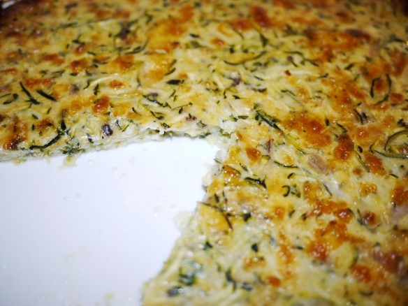 Omelette Provencale aux Courgettes