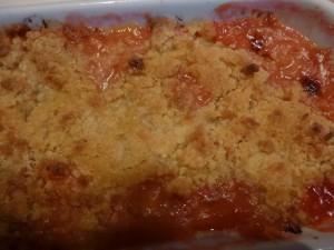 crumble rhubarbe