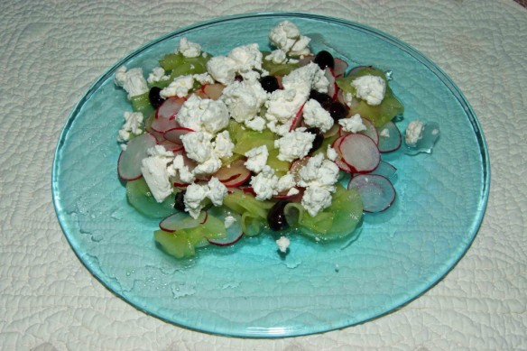 Cucumber & Goat Cheese Salad