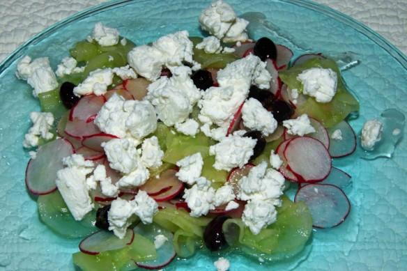 Salade de Concombre au Chèvre