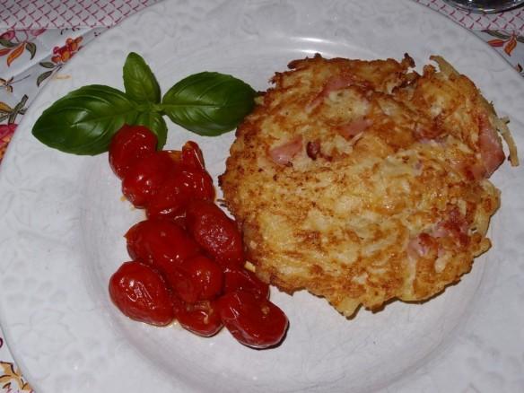 Röstis au Jambon & Tomates Cerises