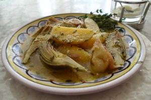 Artichokes Fricassee with Parmesan