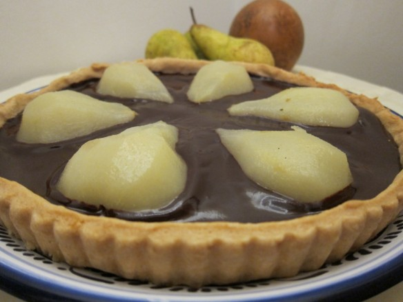 Pear-Chocolate Tart