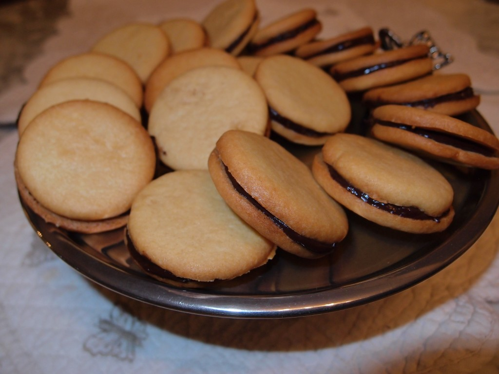 Hazelnut Biscuits with chocolate Ganache