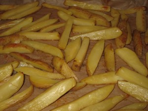 Homemade Oven Roasted French Fries