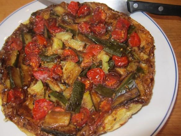 Tatin aux Tomates Cerises & Courgettes