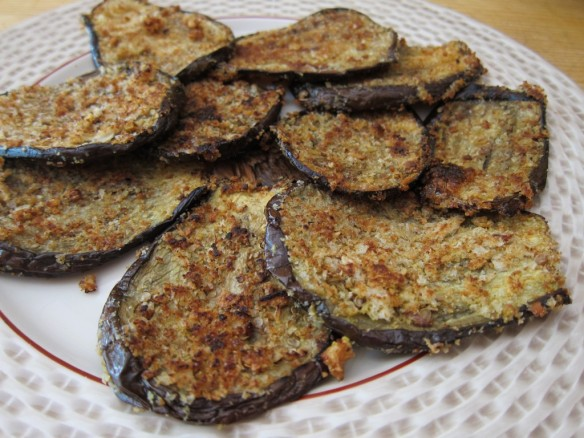 Breaded Baked Aubergines or Eggplants
