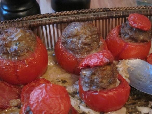 Tomates Farcies façon Charcutière