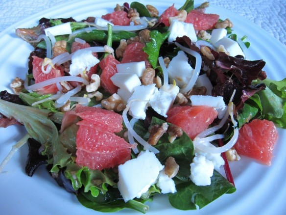Grapefruit Salad & Warm Shallot Vinaigrette