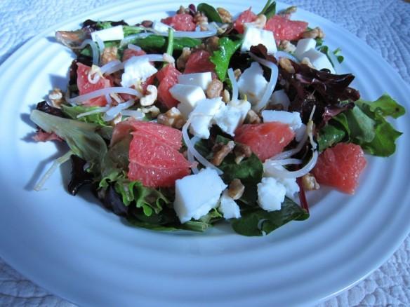 Salade Pamplemousse & Vinaigrette Chaude