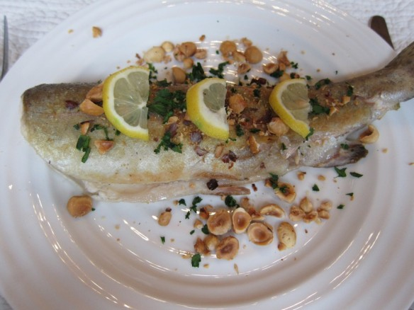 Sautéed Trout with Hazelnuts