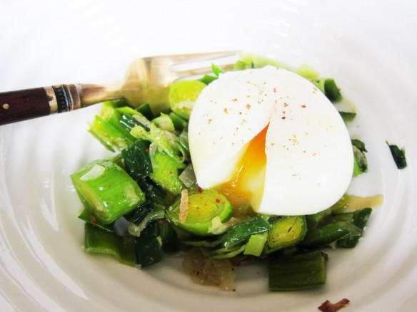 Leek Vinaigrette & Poached Egg