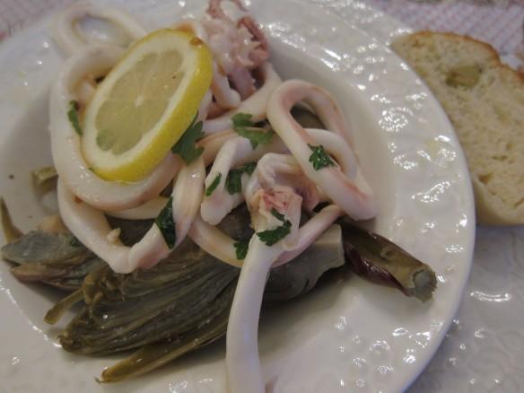 Salade d'Artichauts et Calamars Citronnés