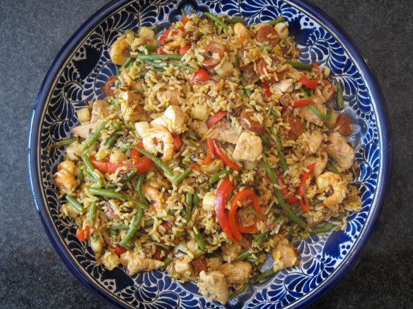 Pan Fried Paella