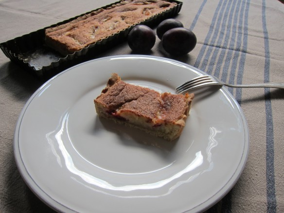 Almond Custard Prune Tart