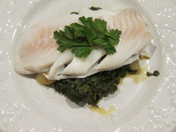 Steamed Cod, Spinach & Fennel with Orange