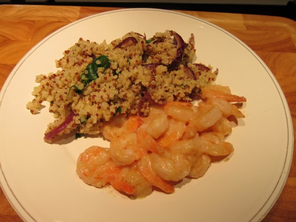Lemon Shrimp with Red & White Quinoa