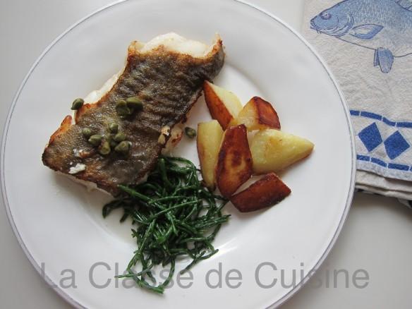 Cabillaud Grillé aux Câpres & Salicorne