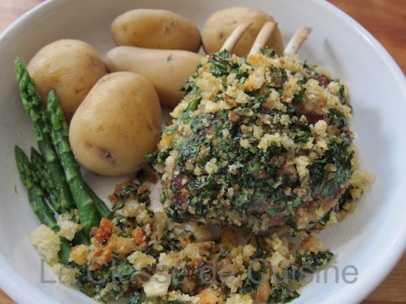 Rack of Lamb with Parsley Crumbs