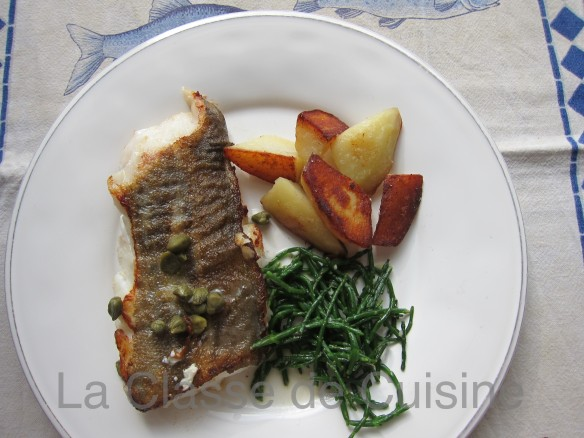 Pan Fried Cod with Capers & Samphire