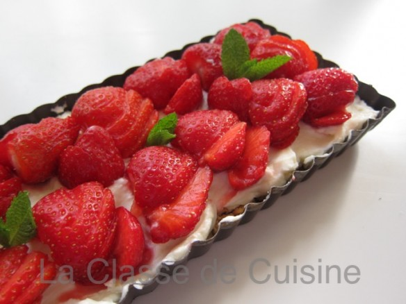 Strawberry & Mascarpone Tart