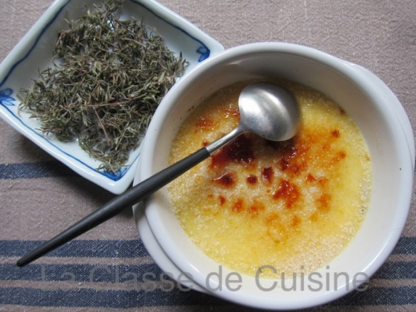 Crème Brûlée Chèvre & Thym