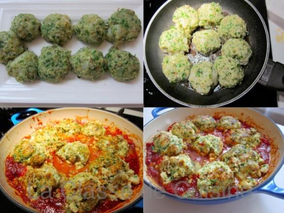 croquettes de poisson sur spaghettis et tomates recette la classe de cuisine. Black Bedroom Furniture Sets. Home Design Ideas
