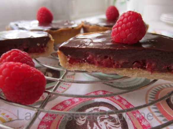 Raspberry and Chocolate Tart