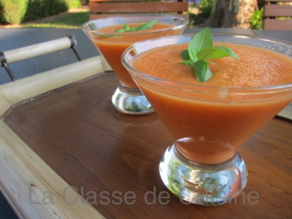 Cantaloup and Tomato Gazpacho