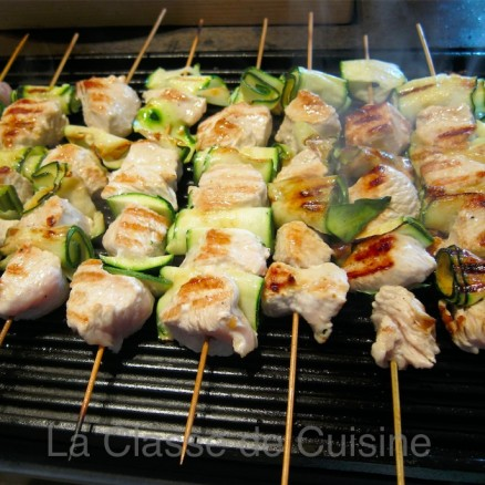 Turkey & Zucchini Brochettes on BBC