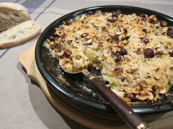 parsnip and hazelnut gratin