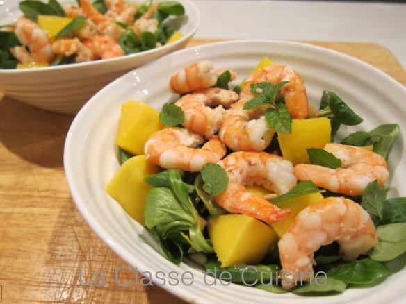 salade fraicheur crevettes
