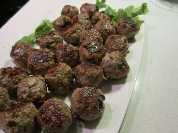 boulettes de viande & Coriandre
