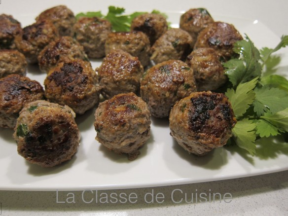 meat balls with coriander