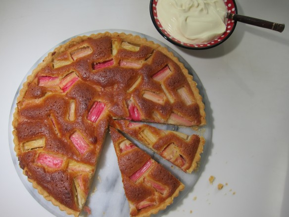 Rhubarb and Almond Tart