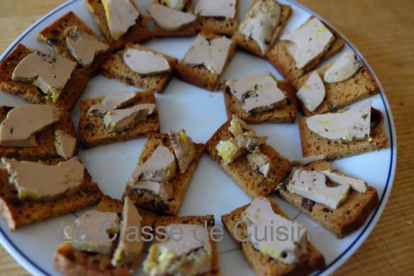 Foie Gras and Gingerbread Canapés