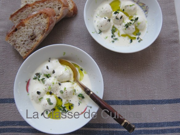 marinated mozzarella in cream and lemon