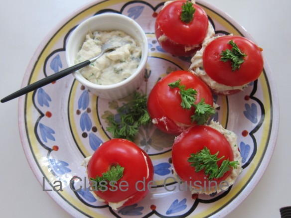 Smoked Mackerel Mousse in Tomatoes