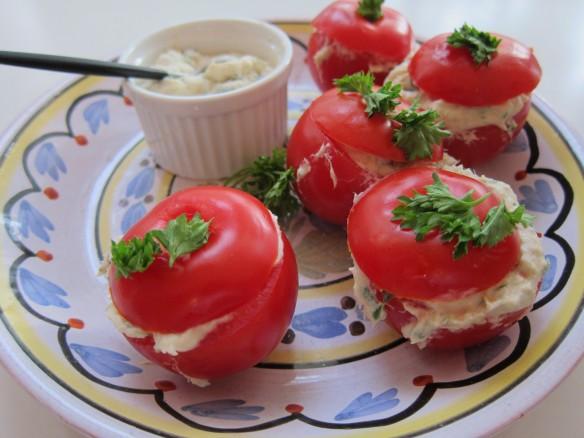 Tomates Farcies à la Crème de Maquereau