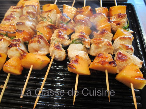 Turkey and Melon Brochettes