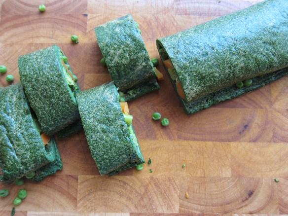 Green Rolled Omelette