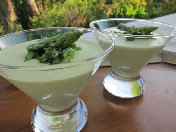 Green Asparagus Panna Cotta