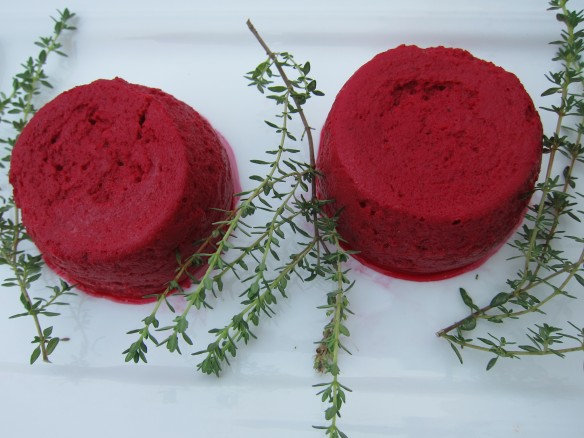 Beetroot Flans